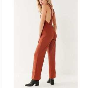 Urban Outfitters Lita Ribbed Knit Apron Jumpsuit